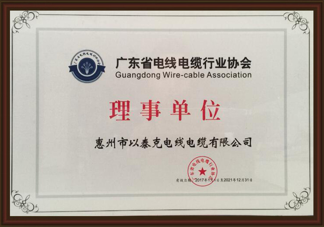 Guangdong Wire and Cable Industry Association - Director Unit