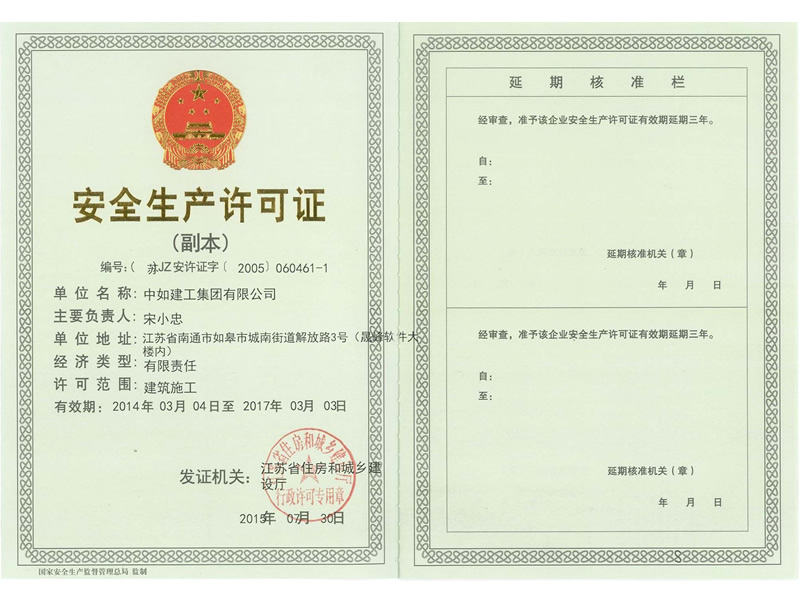 Safety production permit