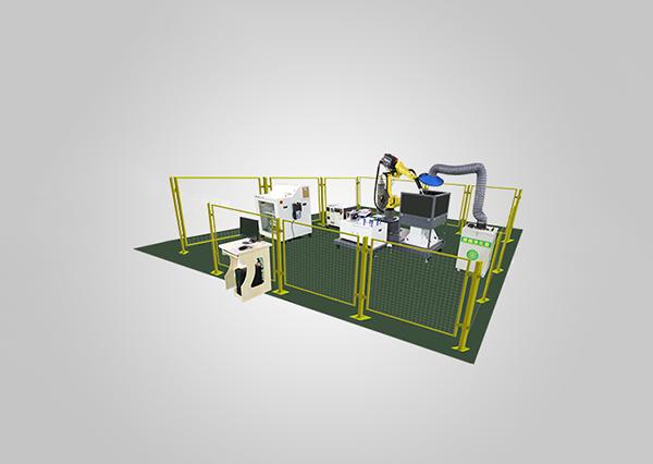 工業機器人焊接技能考核工作站