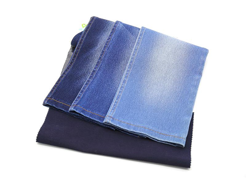 WFI71628BT-1 藍面黑底斜紋 75D+21S靛藍+70D 285克