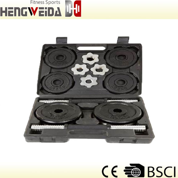 HWD3205-20KG Black Painted Dumbbell Set