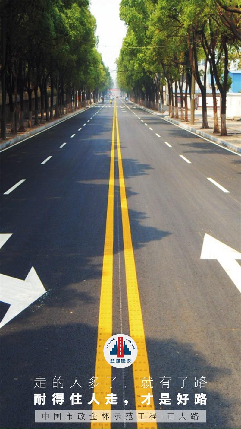 中國市政金杯示範工程·正大路