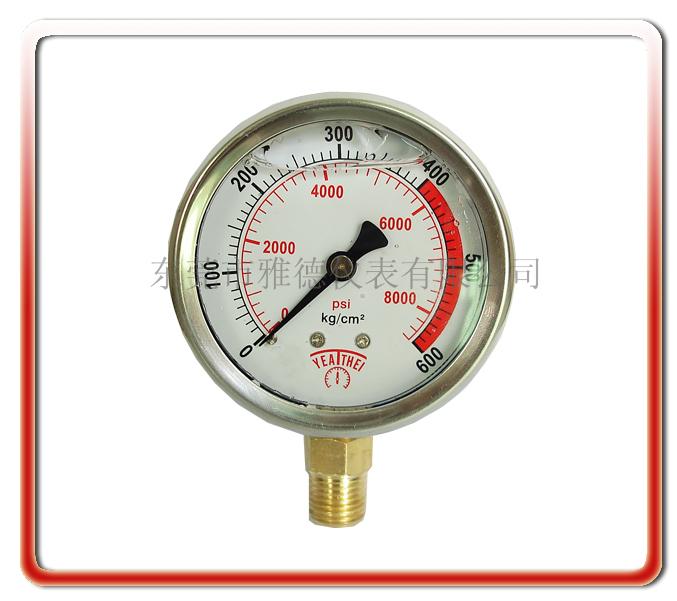 60MM徑向高壓耐震油壓表