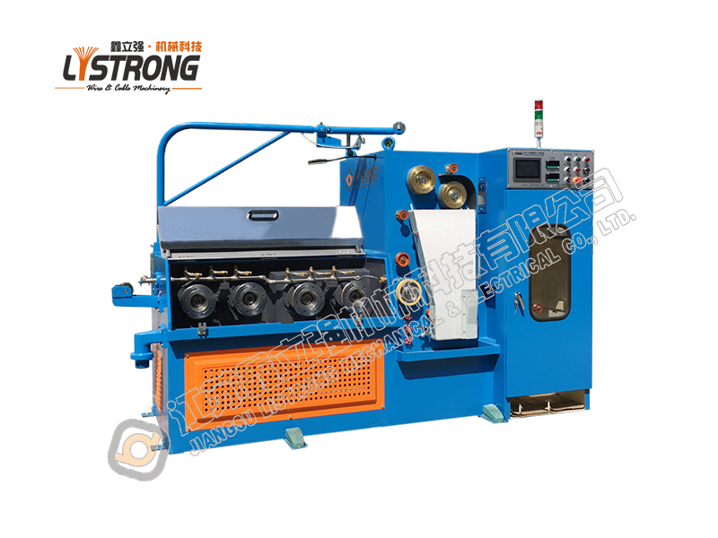 Fine wire drawing machine for brass