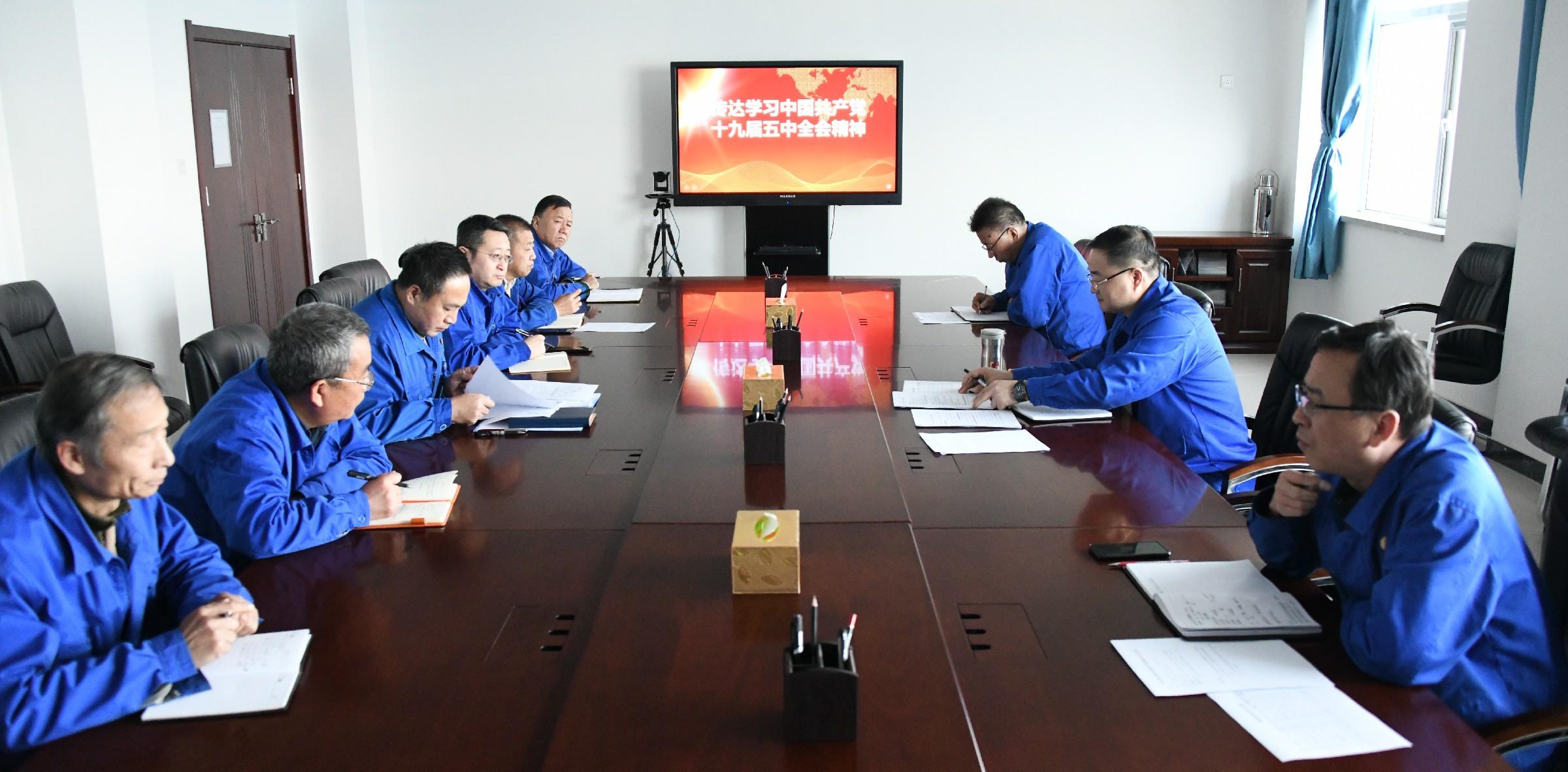 公司党委组织召开传达学习党的十九届五中全会精神专题会议