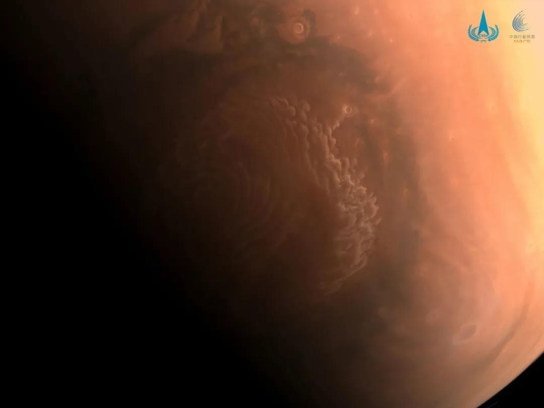 高清火星影像图发布!天问一号拍摄