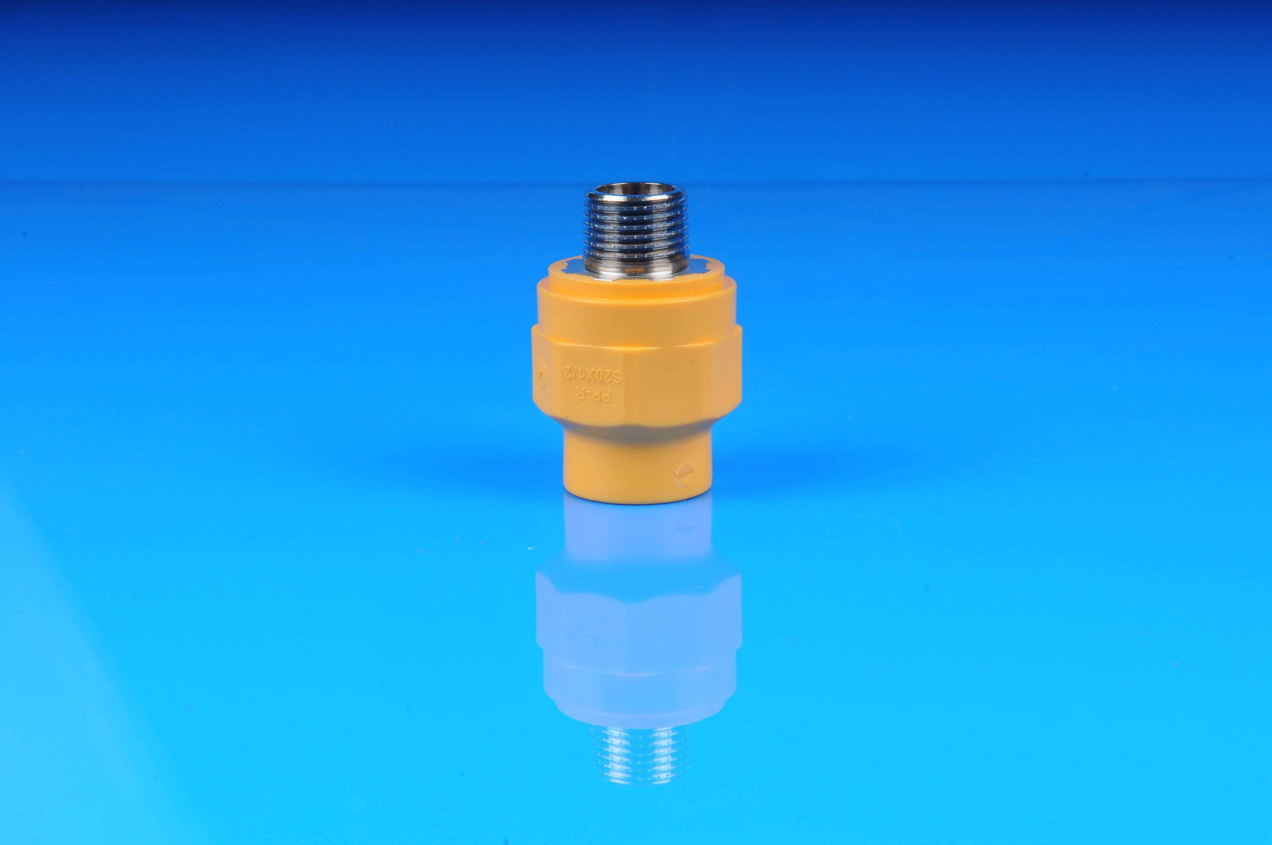 PPR黄色外螺纹直接