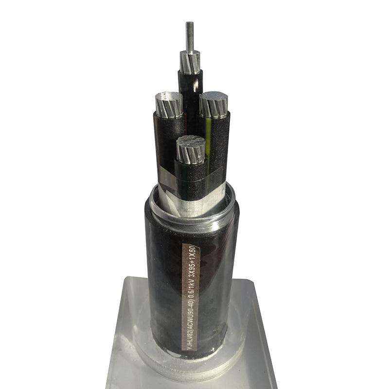 铝合金电缆 YJHLV82(ACWU90-40) 0.6/1kV 3X95+1X50