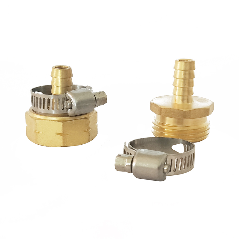 "3/8""Female and Male Brass Hose Coupling With Stainless Steel Clamp"
