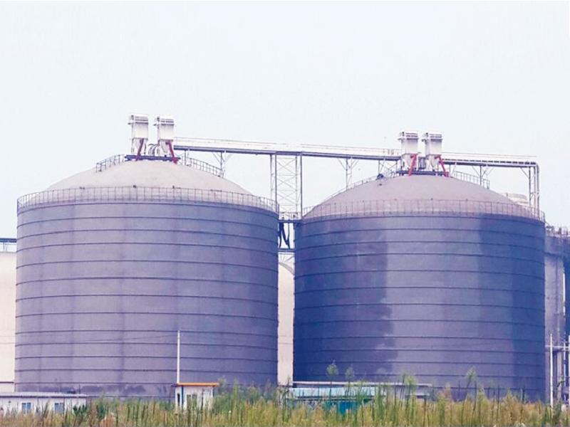 華潤宜昌3萬立方粉煤灰鋼板庫(鋼板倉)