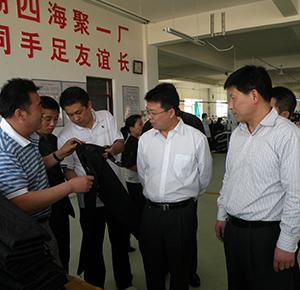 團省委領導視察羊老大工業園