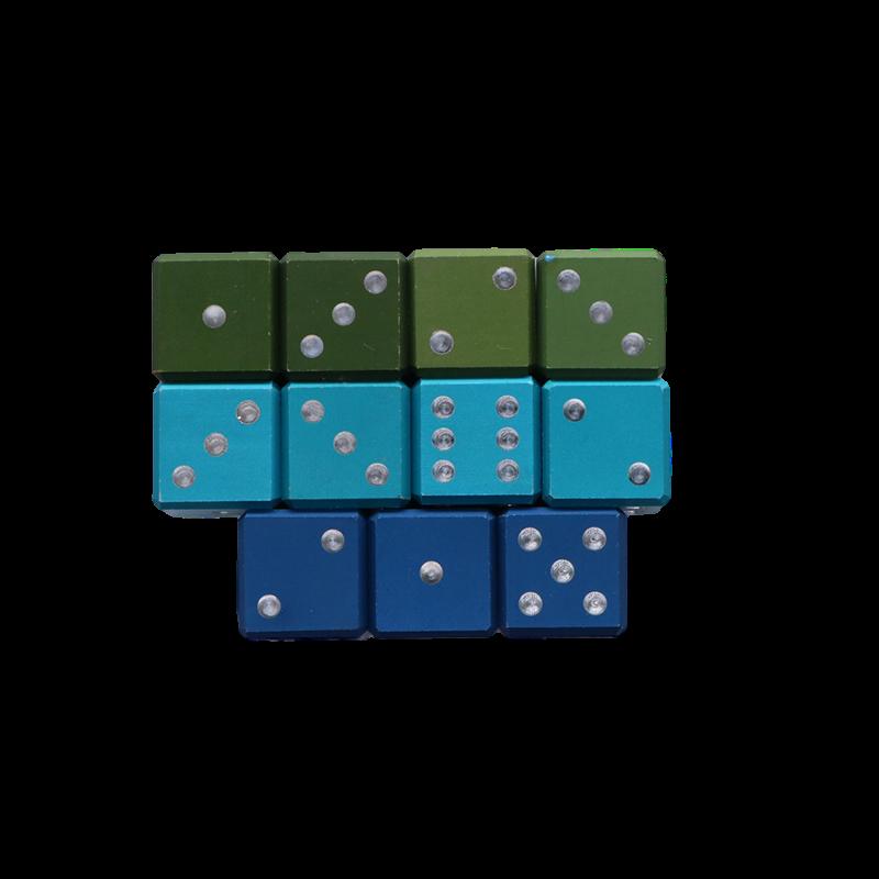 六面铝骰子