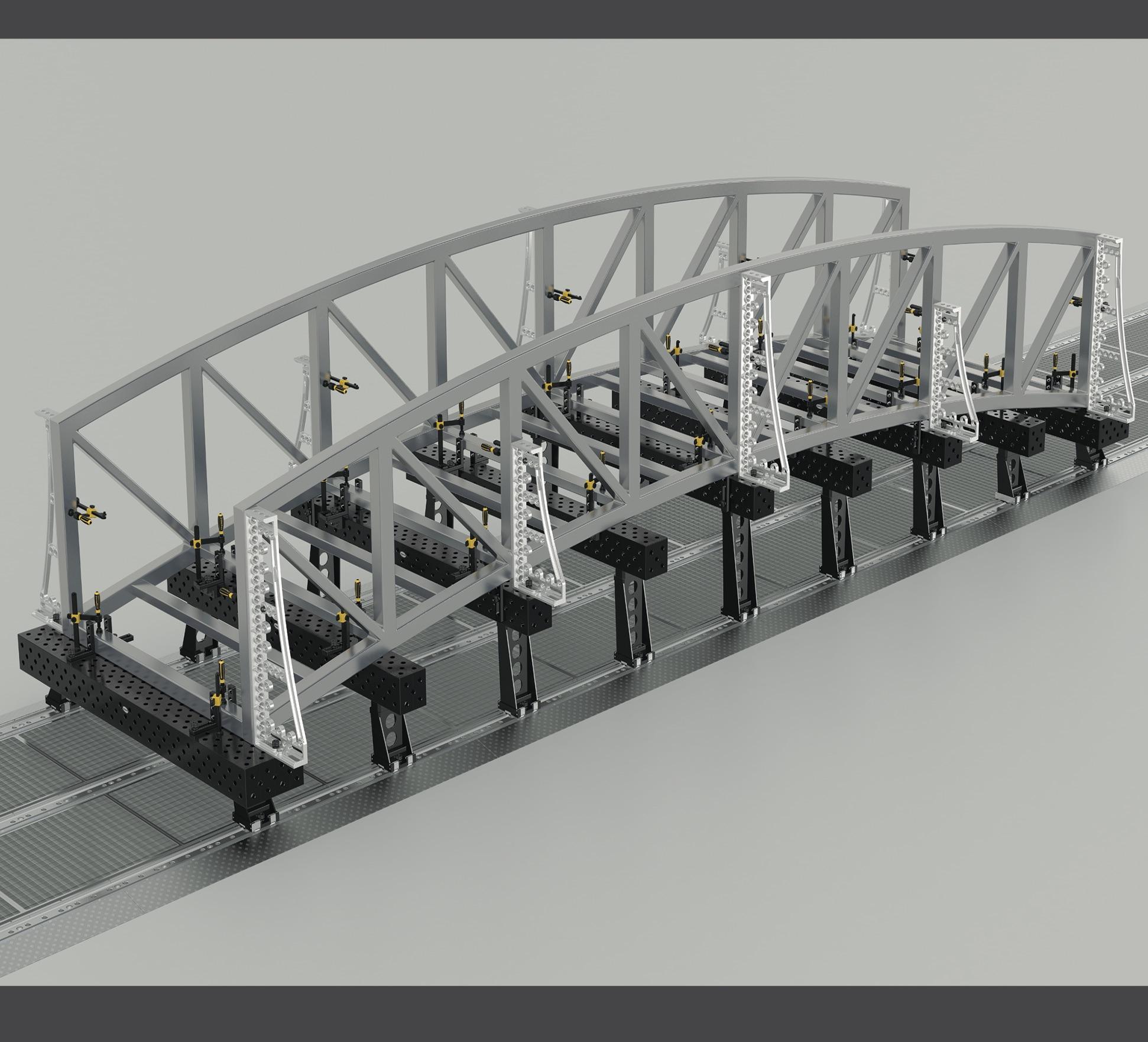 轨道式移动三维焊接平台