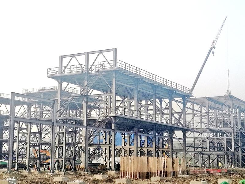 河南龍宇煤化工新建乙二醇鋼結構平臺