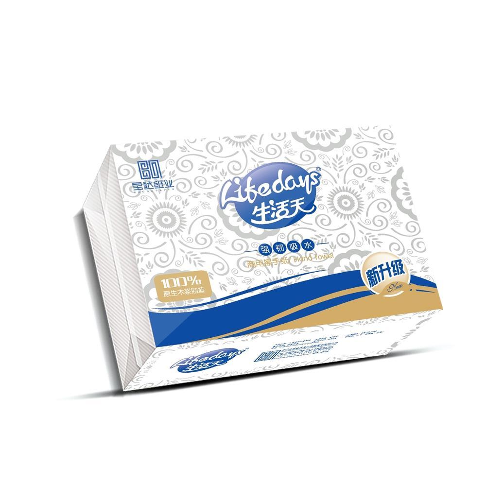 生活天BS701 商用擦手紙200抽 原生木漿紙 強韌吸水