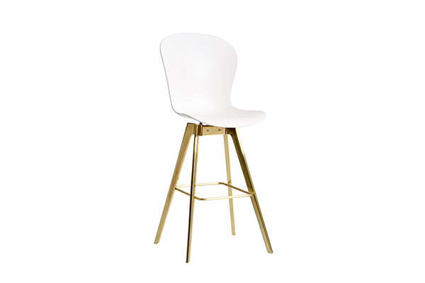 Bar Chair Tulip PP seat tapered brass bar stool S-227 g