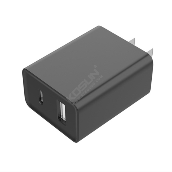 5V/3.4A A+C Fixed Plug Wall Charger