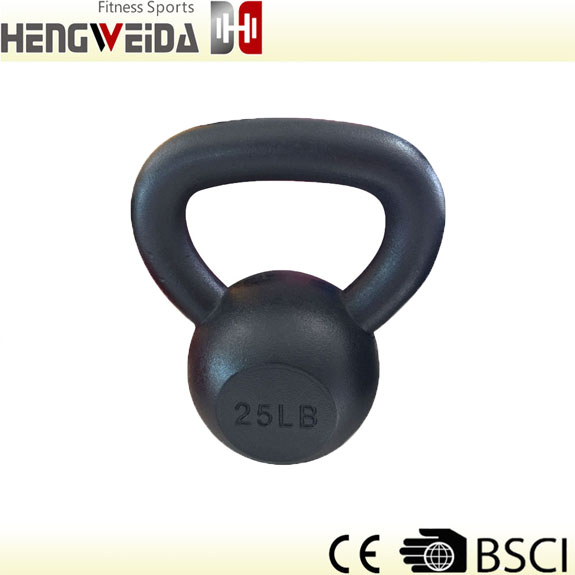 HWD5126-Black Painted Kettlebell