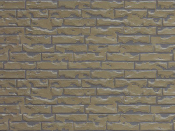 Light brown yellow overcoated desert yellow small brick pattern (Z1-QZH06)