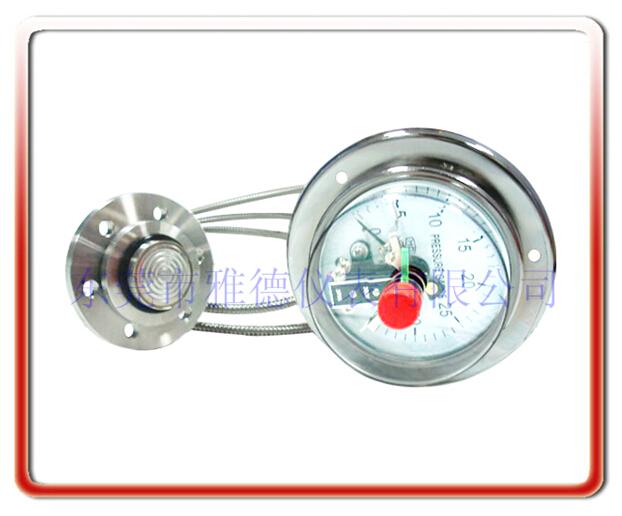 軟管連接法蘭式隔膜電接點壓力表