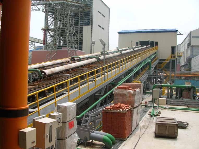 台湾中龙钢厂铸铁机设计供货工程