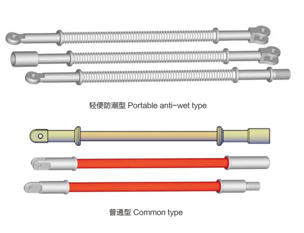 Insulated pull rod for hot-line work
