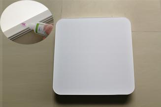 中山燈罩燈飾品(PS材料)用綠川206#PS膠水粘接成功案例分享