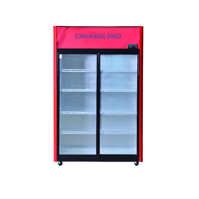 Showcase Cooler with 2 Sliding Glass Door