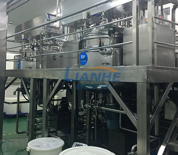 【广州联合机械】客户,以OEMODM为主的大型化妆品集团公司,化妆品生产设备(真空乳化机、不锈钢搅拌锅)整体工程方案。