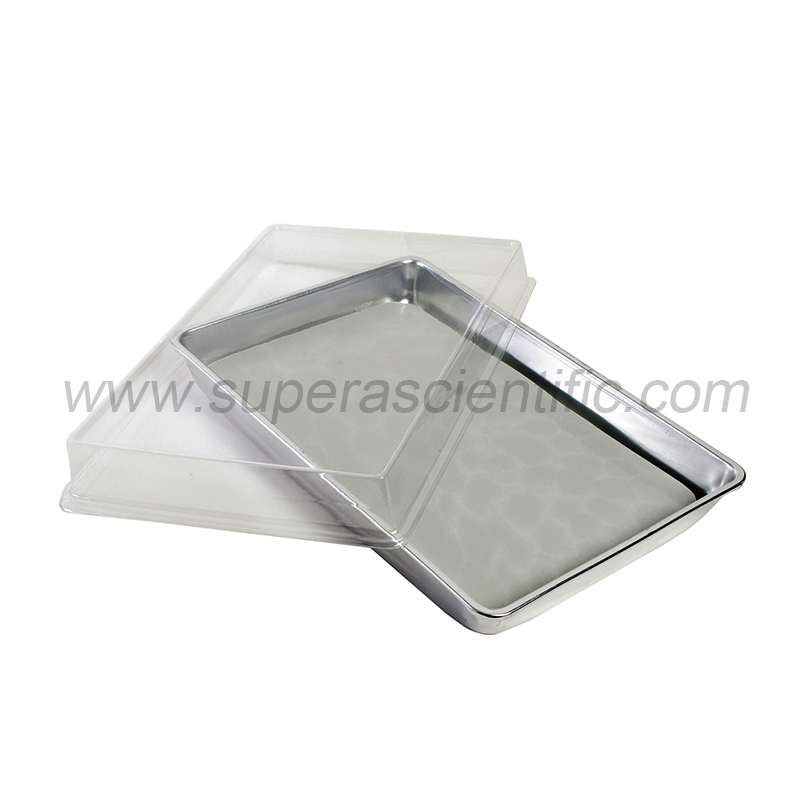 "350-Set Aluminum Pan with Cover, Off White Pad, 11"" x 7"" x 1-1/2"""