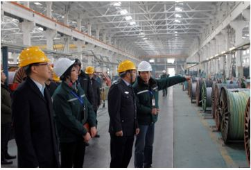Ma Zhong and his delegation, vice mayor of Yixing City, visited the company