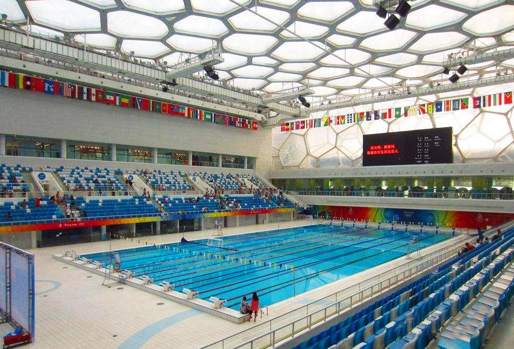 奥运水立方游泳馆