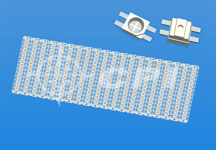 LED3528(14排)十字型支架白膠圓杯杯深0.84總高1.8(焊錫腳切斷不折彎)   (14X20)    (E07421B)