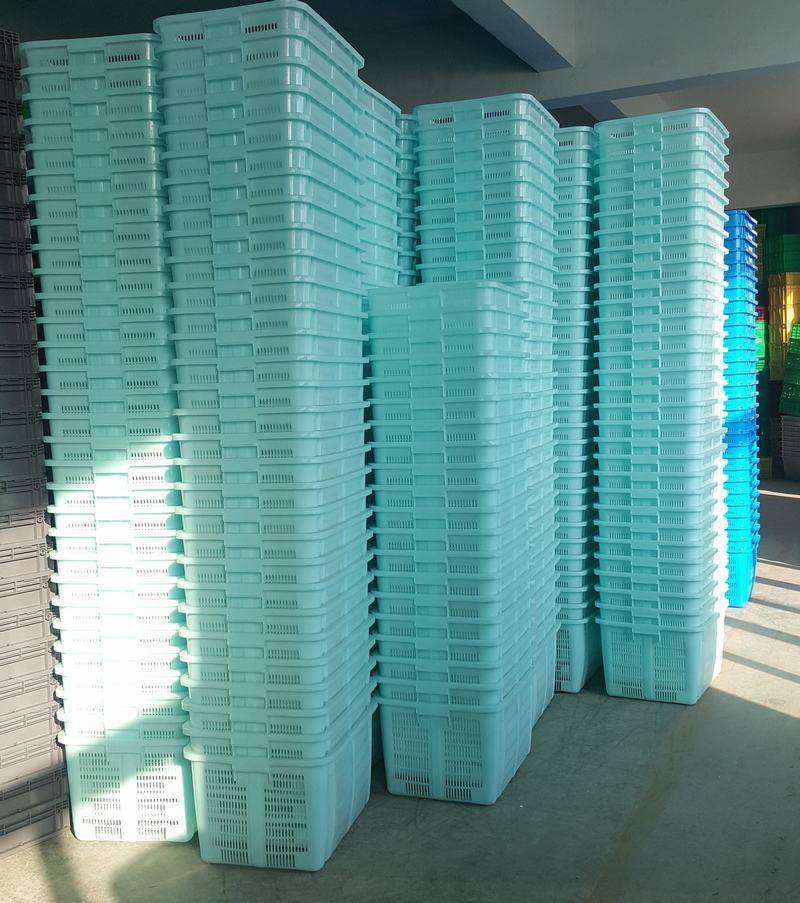 630重筐配鐵把手藍色堆放1