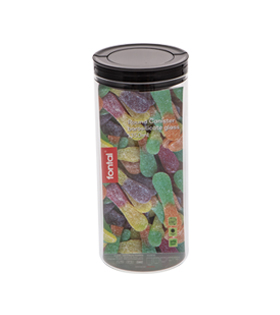 Round Canister Borosilicate Glass 1350ml