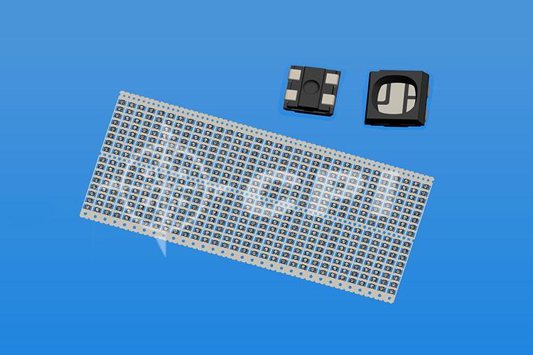 LED2020(16排)寬2.1內藏式支架黑膠杯深0.45總高1.0(正向芯片)表面磨砂     (16X32)     (P02431(E))