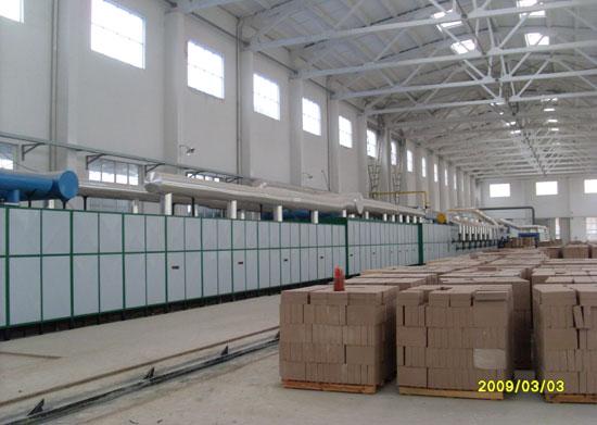 54.85m隧道窯設備用途硅磚及耐酸磚