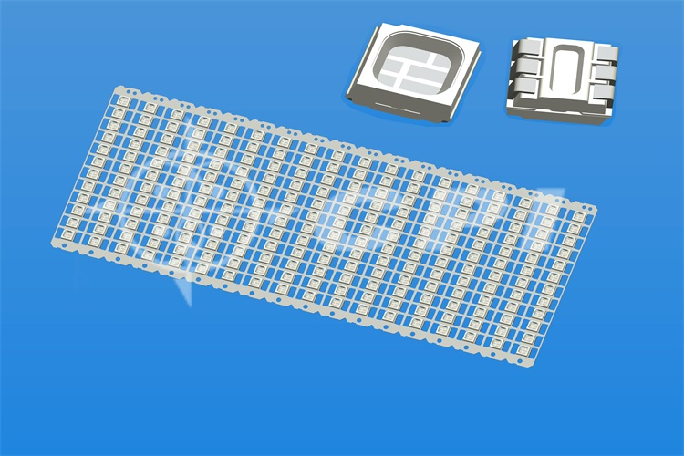 LED3535-12 row positive stretch 0.4 bracket White material Square cup depth 1.0 total height 2.8 (surface frosted) (12*18)