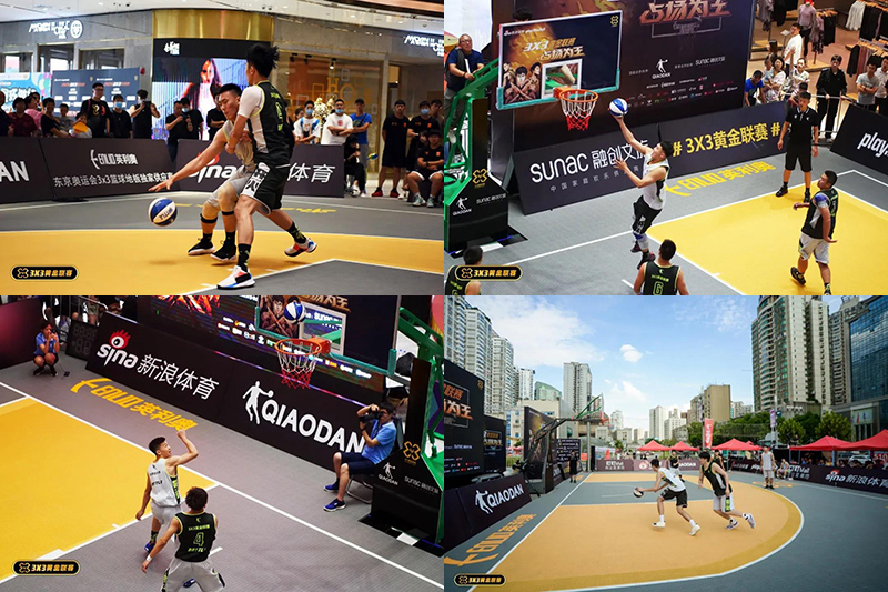 Enlio SES basketball court For Sina 3X3 Golden League
