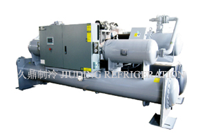Hydraulic filling screw water chilling unit