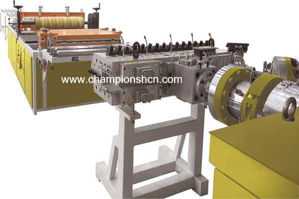 PP/PC corrugated sheet extrusion line