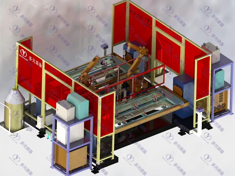 金屬家具行業:立柱焊接工作站