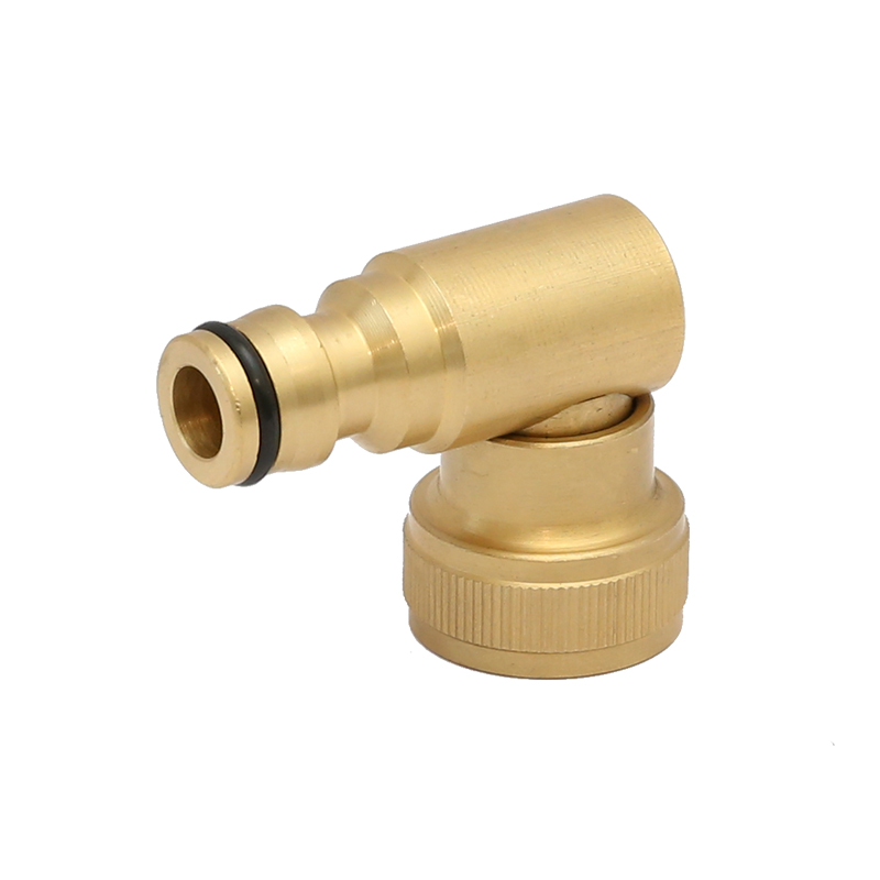 360degree swivel hose connector with brass female threaded collar