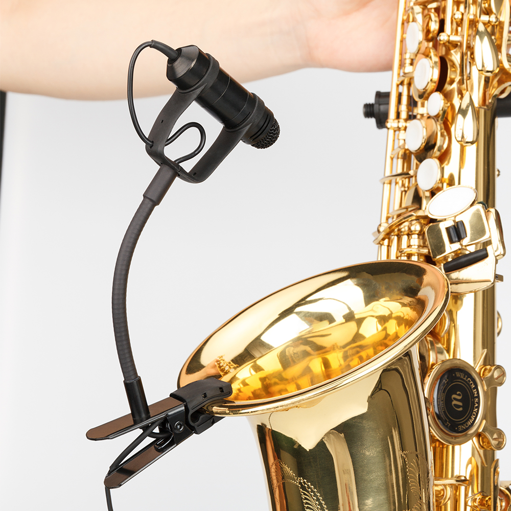 KM-CX309 KIMAFUN 2.4G Mini Wireless Professional Instrument Condenser Microphone System with Receiver&Transmitter for Saxophone, Trumpet
