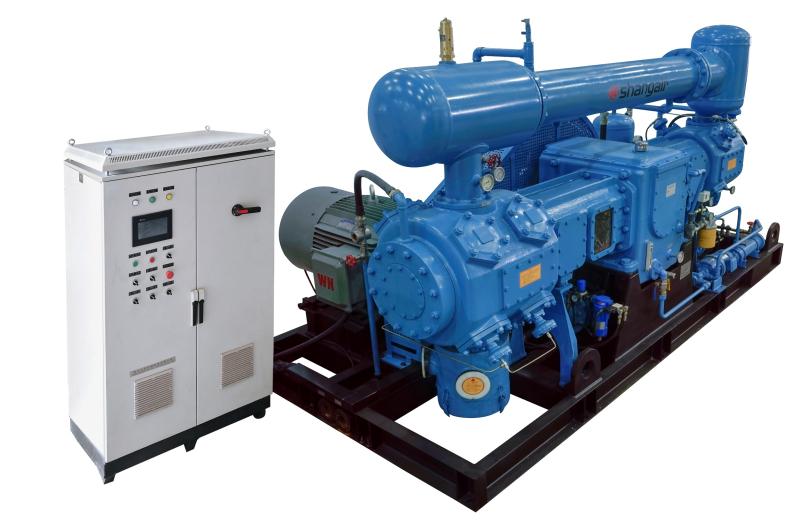 D系列对置平衡水冷无油增压气体压缩机