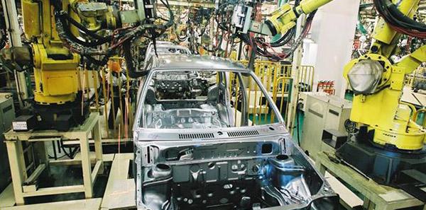 长安铃木五万辆轿车焊接生产线