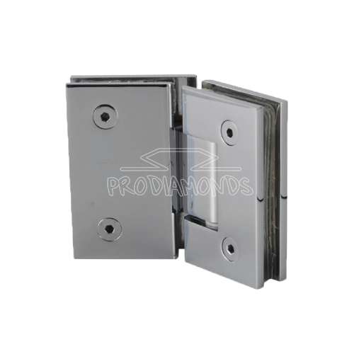 SQUARE CONNER CUT-OUT SHOWER DOOR HINGE 135 DEGREE