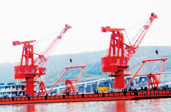 双十吨浮吊趸船
