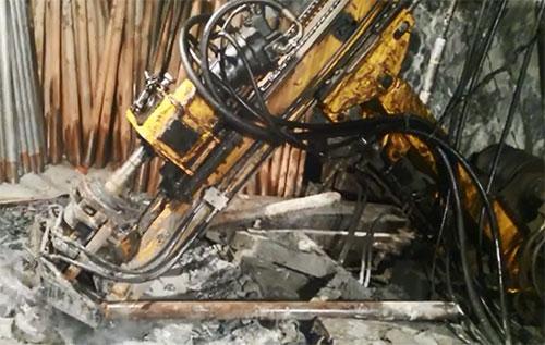 黃海機械坑道鉆施工視頻