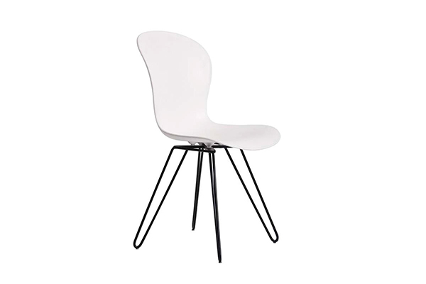 Black wire metal leg PP seat tulip dining chair